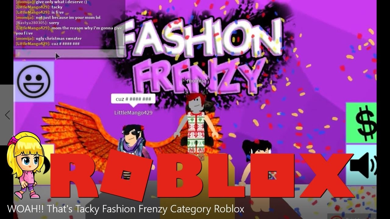 woah   that u0026 39 s tacky fashion frenzy show roblox  ud83e udd49
