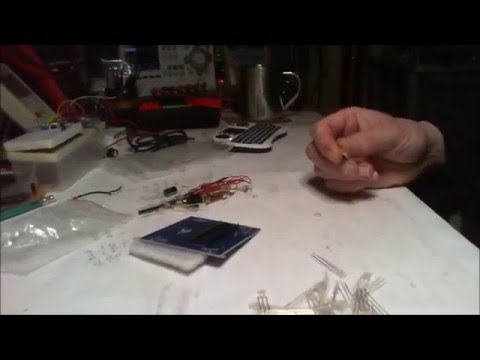 3D LED Cube Red Blue Ray DIY Kit Build  Part 1 of 3