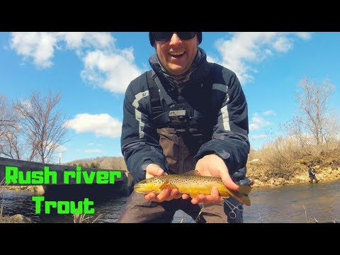 Early Spring Trout Fishing, Rush River, WI