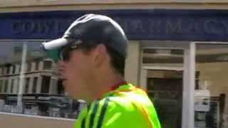Manx Telecom Parish Walk video 3 - leader at Peel