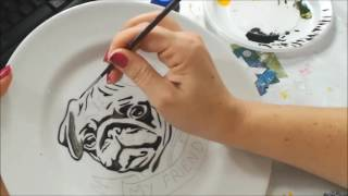 Pintura em prato Por Cátia Cristina Muniz