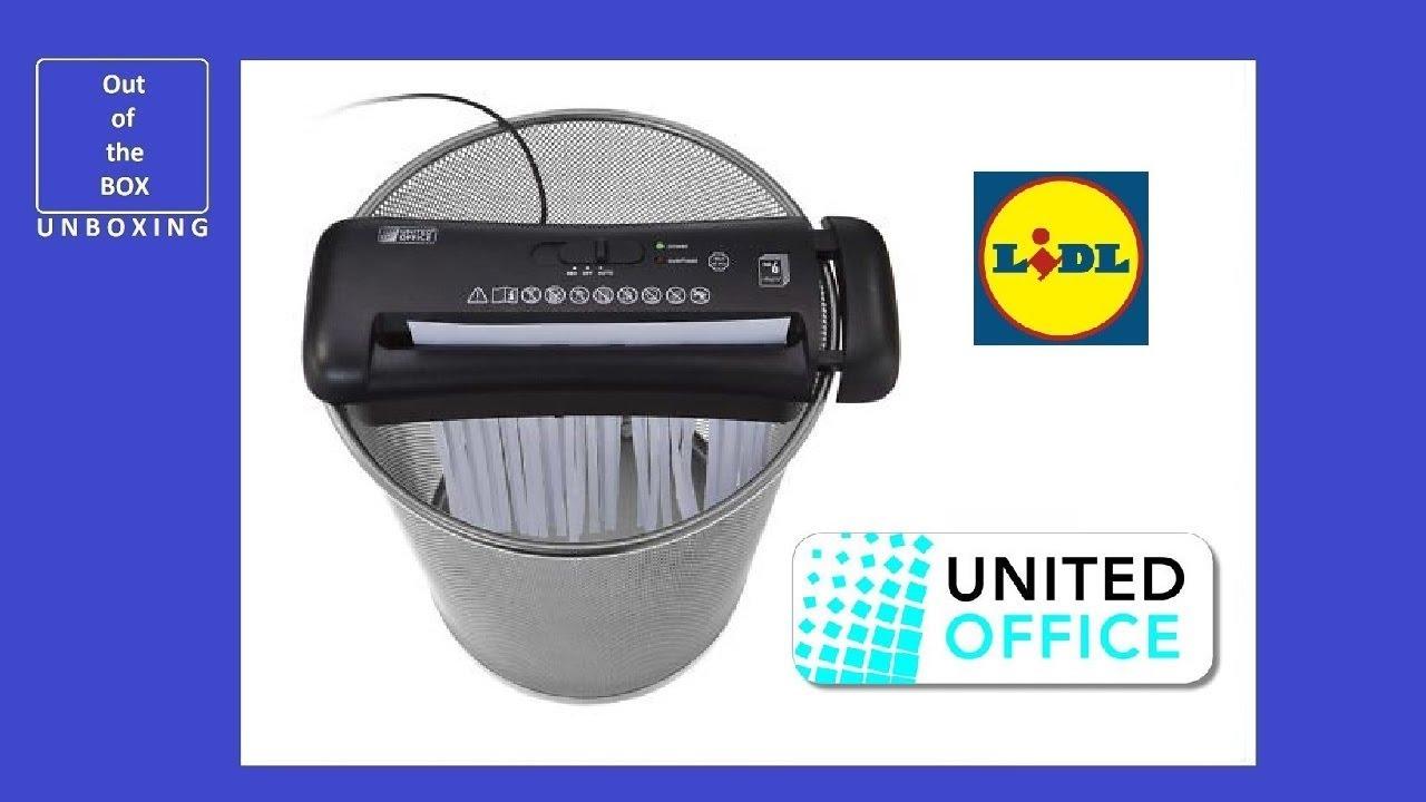 Unitedoffice Document Shredder Uav 190 B2 Unboxing Lidl 6 Sheets