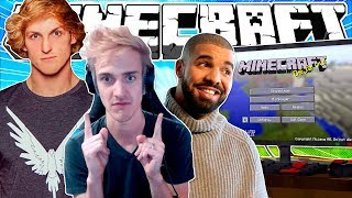 If Famous People Played Minecraft #2