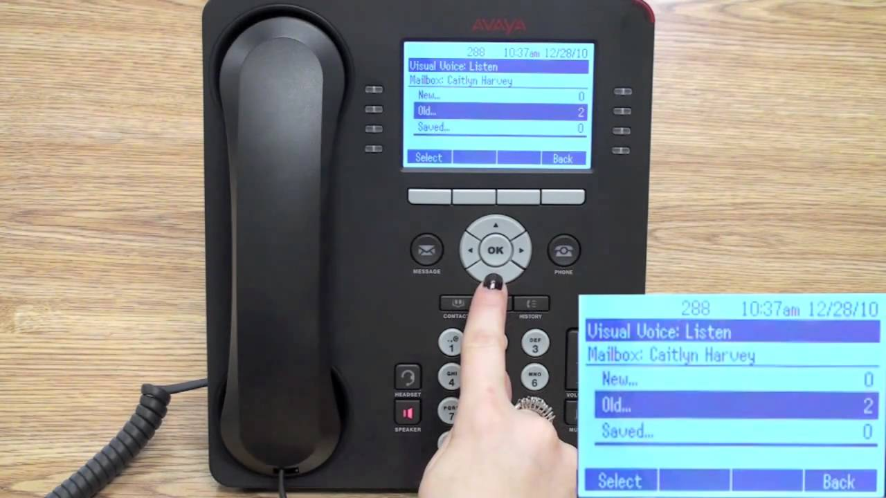 Checking Messages On Avaya 9608 Telephone Youtube