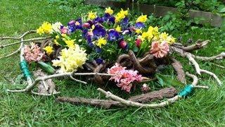 Creative garden decoration arrangement