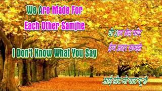 Hum Bane Tum Bane Karaoke Ek Duje Ke Liye Tittle Song With Hindi English Lyrics - By Shamshad Hassan
