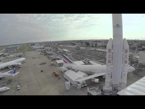 UAV offers aerial view of the Paris air show
