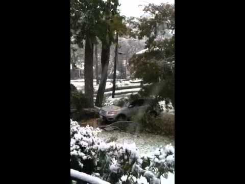 October snow fall New Rochelle, NY