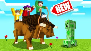*NEW* OVERPOWERED BUFFALO RIDING In MINECRAFT!