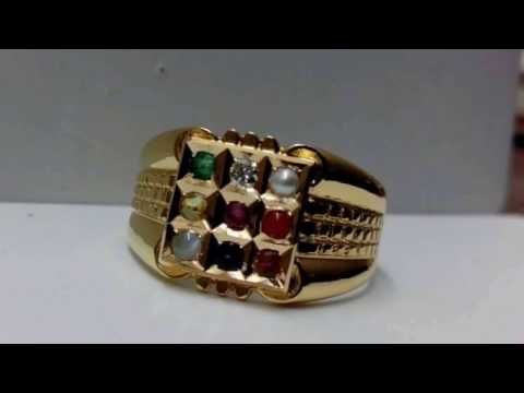 Latest navaratna gold rings
