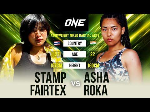 Stamp Fairtex vs. Asha Roka   Full Fight Replay