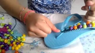 Repeat youtube video Como decorar sandalias