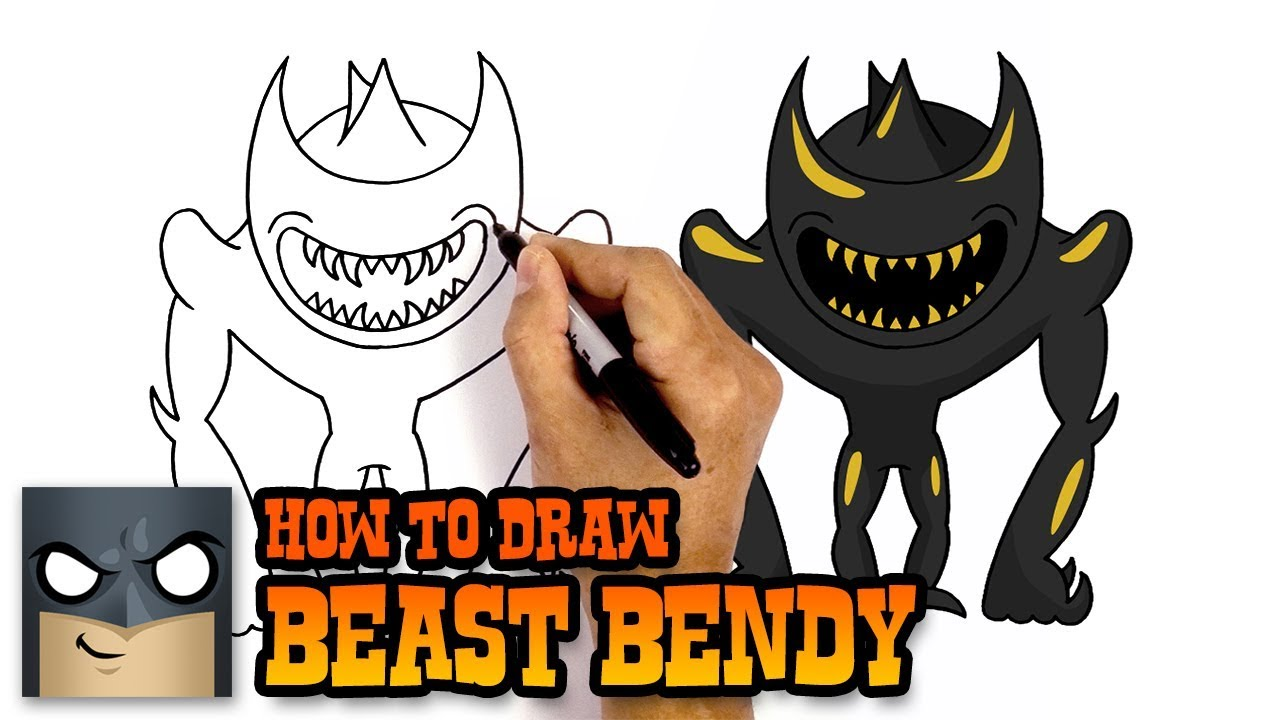 How To Draw Beast Bendy Awesome Step By Step Tutorial