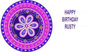 Rusty   Indian Designs - Happy Birthday