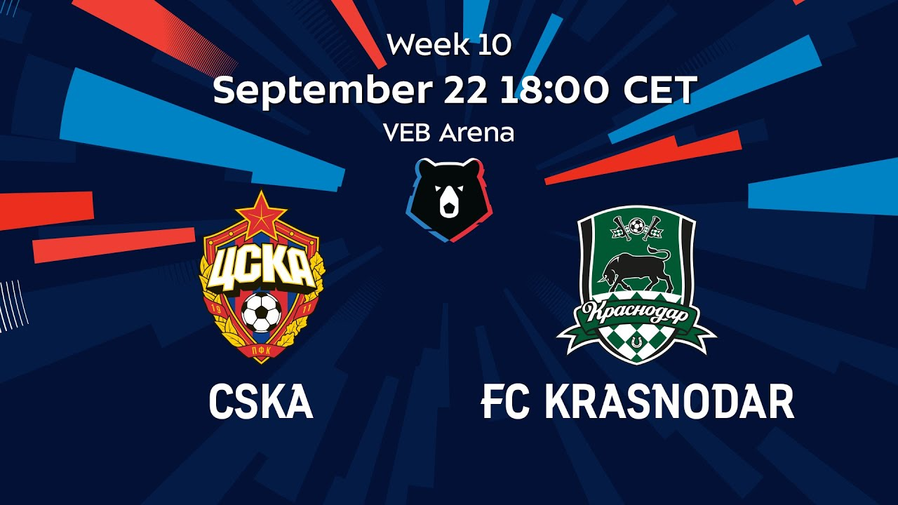 Video Cska Moscow Krasnodar Premier League Russia 2019 09 22 Full Matches Futbik Latest Football Videos Football Highlights And Football Matches
