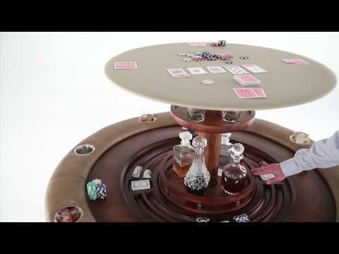 Nexus 21 Speakeasy Poker Table with Hidden Bar