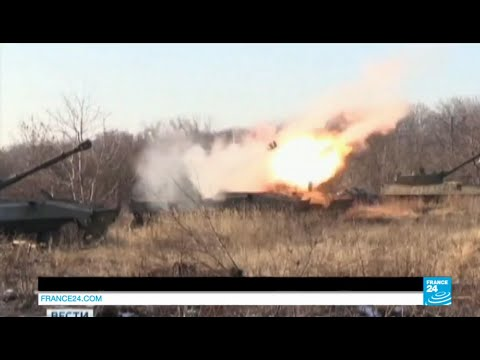 UKRAINE - Rebel forces duke it out with national army over Debaltseve region