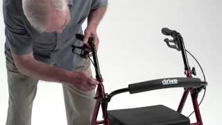 Drive Medical - Adjustable Height Rollator(See more at http://www.drivemedical.com. Recovering after a surgery or fall or living with balance issues can make walking difficult, even intimidating., 2013-01-08T00:08:27.000Z)