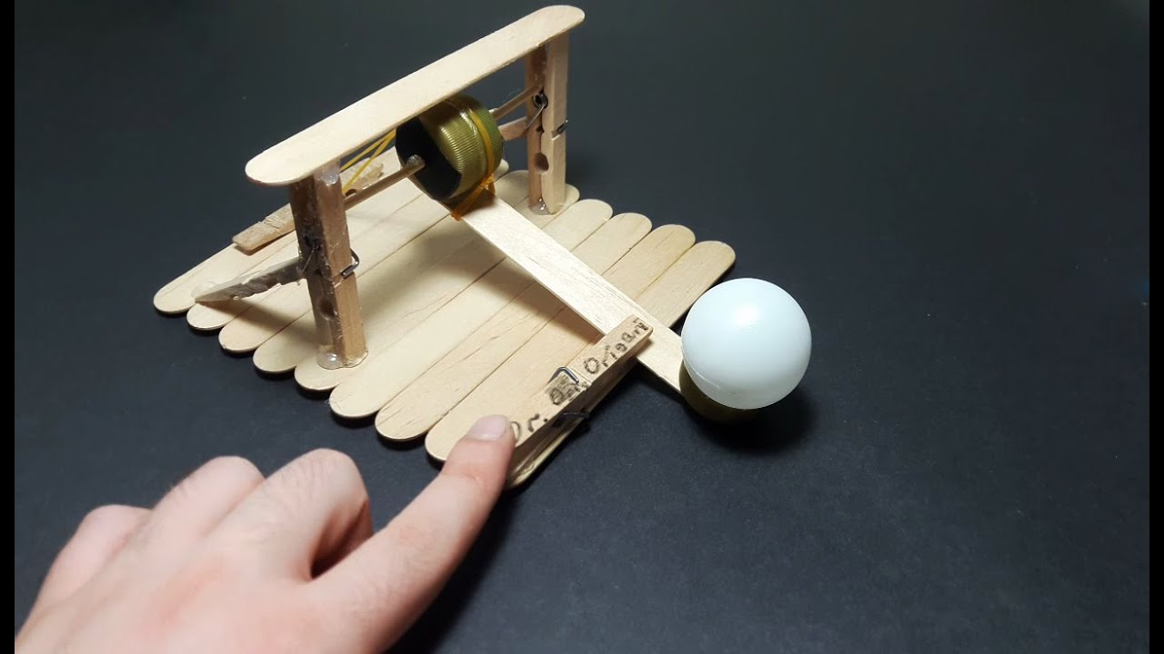 DIY | How to make a catapult that shoot ping pong ball-easy tutorial ...