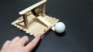 | DIY | How to make a catapult that shoot ping pong ball-easy tutorial-Toy Weapons- By Dr.origami