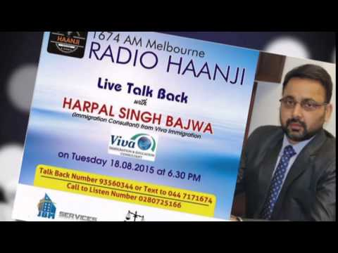 Live Talk back session with Harpal Singh Bajwa - Radio Haanji 1674AM