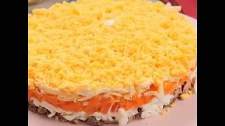 """Сегодня на ужин салат """"мимоза"""", только более легкий вариант без майонеза и шпротов😋"""