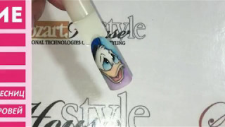 Дизайн ногтей. Мультяшки. Дональд Дак