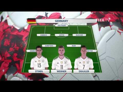 Match 14: Germany v Mexico Team Lineups  FIFA Confederations Cup 2017