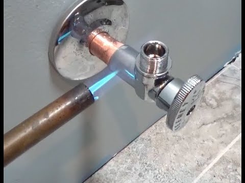 How To Sweat On A Valve Water Installation You