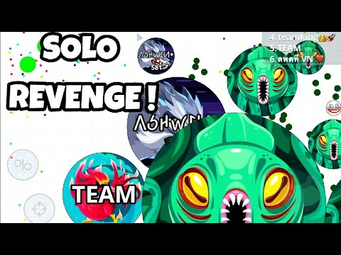 AGAR.IO MOBILE SOLO REVENGE + TRICKS AND TAKEOVER