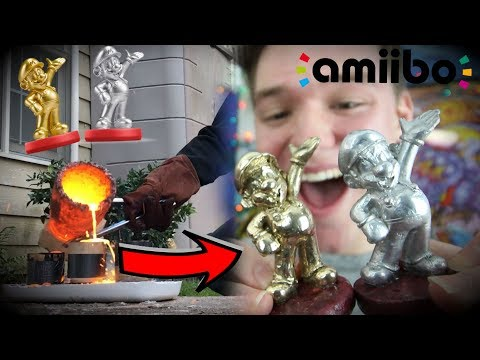 Crafting REAL Metal Mario Amiibos! | GIVEAWAY