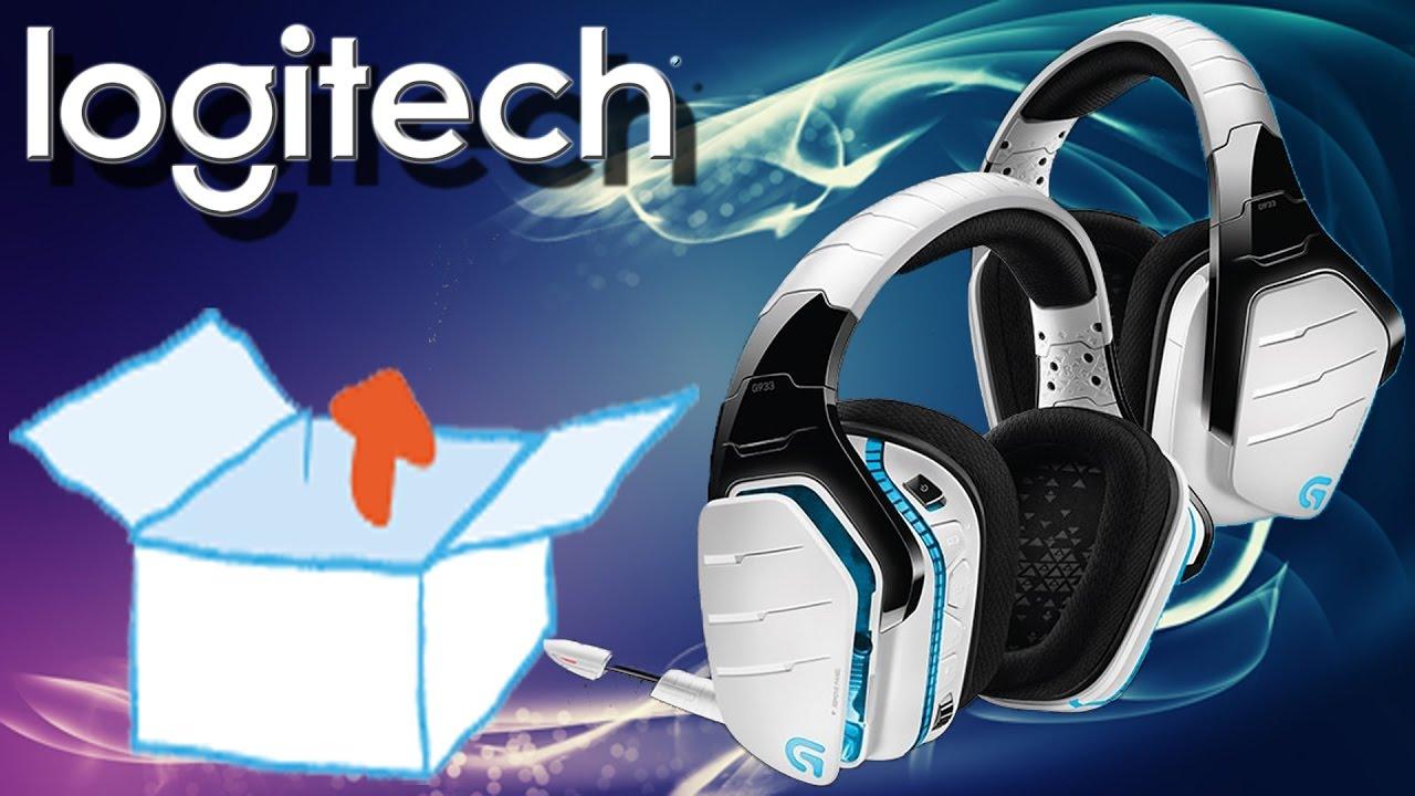 Unboxing - Logitech G933 Kabelloses Gaming Kopfhörer für PC, Xbox One und  PS4 Snow weiß