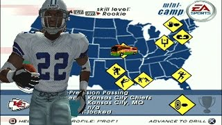 Lets Play Madden 03 Mini Camp - Ground Attack - ft Emmitt Smith part1
