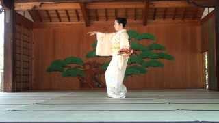 日本舞踊 島の千歳(せんざい) in 道明寺天満宮 能舞台 thumbnail