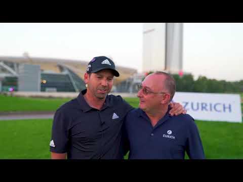 Sergio Garcia and Walter Jopp at Emirates Golf Club