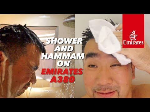 Shower and Hammam Inside Emirates A380 First Class to Morocco!