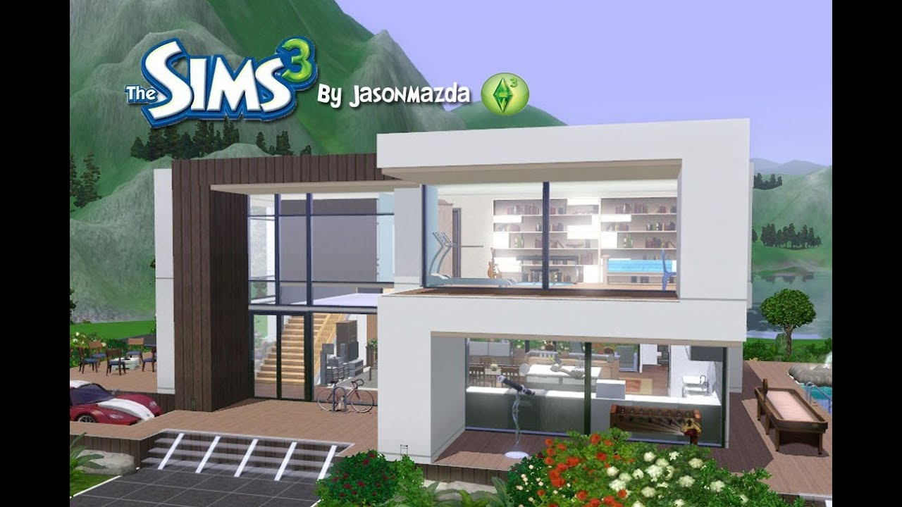 The sims 3 house designs modern villa youtube