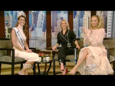 Iris Mittenaere - Miss Universe 2016, Interview - Live with Kelly