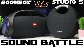 HK Onyx Studio 5 vs JBL Boombox :Sound Battle -WOW!