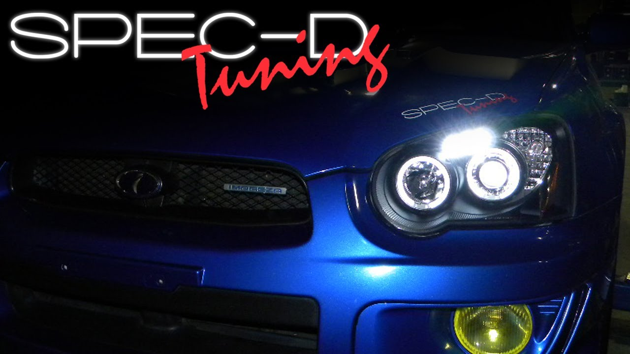 Led Light Strip For Cars >> SPECDTUNING INSTALLATION VIDEO: 04-05 SUBARU WRX PROJECTOR HEAD LIGHTS - YouTube