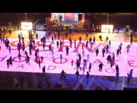 Largest mobile skating rink: Moscow sets world record