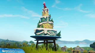 Fortnite Battle Royale - All Birthday Cake Locations Guide (Birthday Challenges)