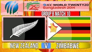 vuclip (Cricket Game) ICC T20 World Cup 2014 - New Zealand v Zimbabwe Group B Match 10
