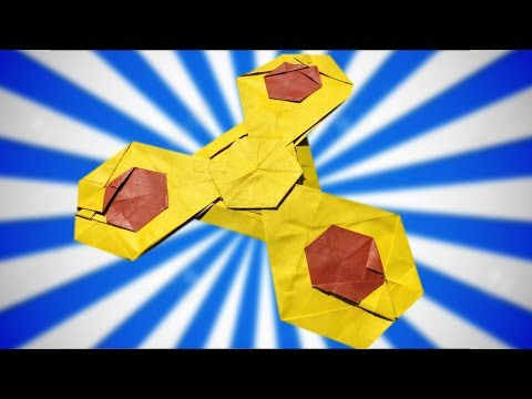 Origami Fidget Spinner Tutorial (Taiga) - IT ACTUALLY SPINS!