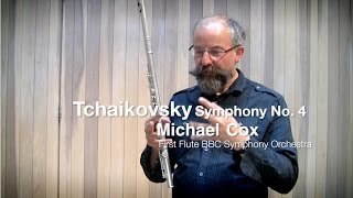 tchaikovsky symphony no 4 flute solo with michael cox