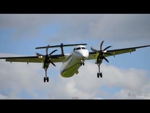 Crosswind landing of a Dash 8-Q400 in Berne HD