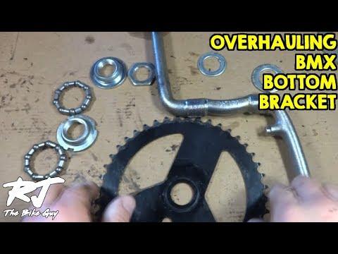 "Bmx one piece 1 PC crank bottom brackets 1//Piece Crank 5//16/"" x 7/"" bearing"
