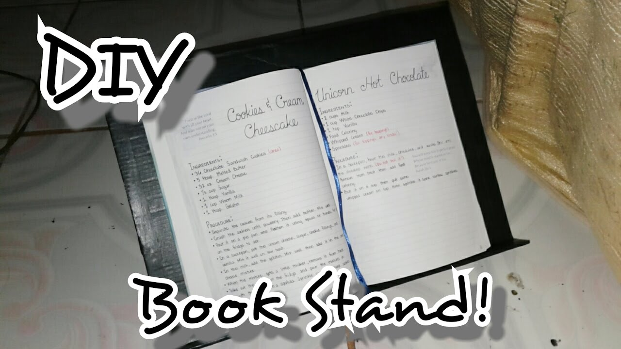 Diy book stand using recyclable materials youtube diy book stand using recyclable materials malvernweather Images