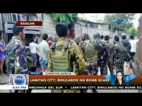 Lamitan city, binulabog ng bomb scare