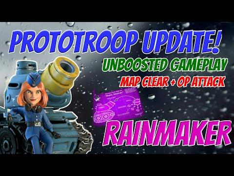 Boom Beach NEW Rain Maker/mortar troop Prototroop